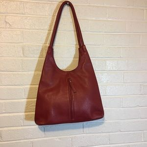 Red Purse Marked Vera Pelle. Italian handbag.